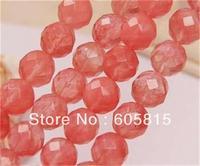 8mm Faceted Watermelon Tourmaline Gem loose Beads 15'' Long AAA ##R112