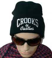 Free Shipping ! Wholesale Crooks & Castles beanie hats fashion hiphop winter knitted hats mix order