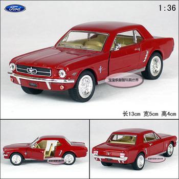 Soft world FORD kinsmart 1964 mustang red alloy car models