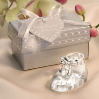 3pcs/Lot Lovely Crystal Baby shoes baby shower favors Baby birthday gifts Wedding Favors Free Shipping