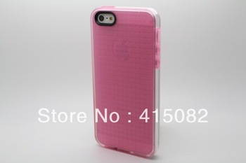 Case for iPhone 5 Fashion Gird Pattern Case For iPhone 5G Cell Phone Case for iPhone 5 5G Dual Color Design-Free Shipping