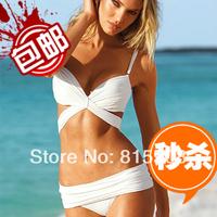 Free Shipping Sexy Women's Swimwear Bikini 2014  Brand Victoria  Strap Swimsuit Trendy