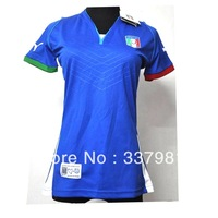 Free Shipping Hot Sell 2013 New Arrival Italy Blue Women's Shirts Soccer Jerseys  piero  pirlo  balotelli