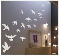 Free Shipping Flying Pigeon Bird Living Room Bedroom Decor Mural Art Vinyl Wall Sticker Home Window Decoration Decal