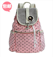Big primary school students school bag double-shoulder women's casual travel bag