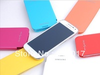 Wholesale 100pcs/lot Battery case For S4 Mini I9190 ,Back cover flip leather battery housing case for Samsung Galaxy SIIII
