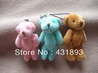 [MIX order] 400pcs/lot free shipping wholesales 6cm four color mini  teddy bear Stuffed Dolls