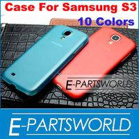 Ultra Slim Semi-Matte Hard Plastic Back Case Cover Skin For Samsung Galaxy S3 SIII I9300 Multi Colors, 5 PC/lot