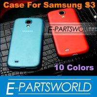 Super Slim Semi-Matte Hard Back Plastic PC Case Cover Skin For Samsung Galaxy S3 SIII I9300 Multiple Colors, 20 PC/lot