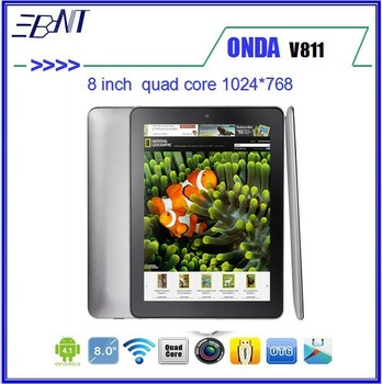 OTG Film as gift 8 inch Onda V811 quad core Tablet PC HDMI Allwinner A31 1.4GHz Android 4.1 2GB/16GB IPS 1024*768 PCs