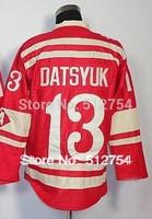 #13 Pavel Datsyuk Jersey,Ice Hockey Jersey,Winter Classic Jersey,Best quality,Embroidery logos,Size M--XXXL,Can Mix Order