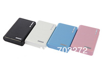 Newest Wallet style 12000mah power bank With LED Lighting Power Battery External Battery Pack Double USB port+USB Cable5set/lot