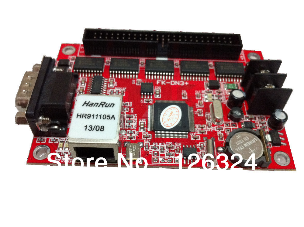 FK-DN3+ network communication p20 p16 full color LED display module Drive controllor card lan port controller(China (Mainland))