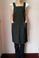 Denim apron black blue suspenders h work aprons aprons