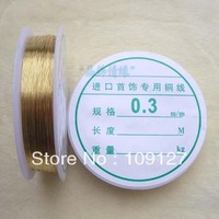 Diy accessories 0.3mm-0 . 6mm gold silver metal line jewelry copper wire copper thread 4 1 roll