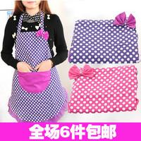 2694 fashion bow princess cartoon waterproof canvas aprons bibs