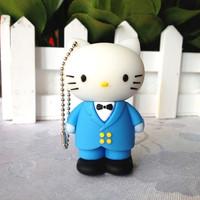 pen drive cartoon cat man 4gb/8gb/16gb/32gb bulk Kitty Cat Man usb flash drive flash memory stick pendrive gift free shipping