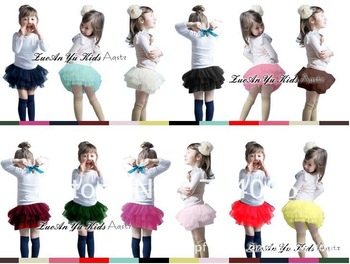 2013 Girls Skirts Kids Baby Fashion Skirt Childrens Cute Design Multicolor Mini Skirt Girl Ball Gown Tutu Skirt Freeshipping