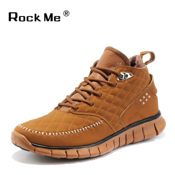 2013 high thermal men's short plush high quality cowhide shoes slip-resistant autumn and winter shoes fashion brand