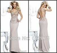 2013 New Arrival Mermaid See Through Back vestido de noite Prom Dresses free shipping
