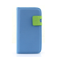 Blue Card Slot Diamond Leather Flip Stand Case Pouch Holster for Samsung Galaxy S3 i9300
