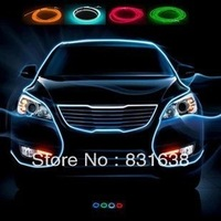 Flexible neon wire EL wire neon 5M * 2.3MM with car cigarette lighter plug - Free shipping ~ GGG 10 colors options