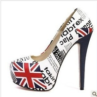 Free shipping new arrival popular fashion star flag torx high-heeled shoes red high heels shoes wholesale drop ship 573