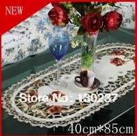 229/40cm * 85 cm / Oval / European embroidery cloth art / tablecloths / hollow coffee table cloth / table mats