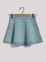 Fashion vintage aa brief short denim skirt expansion skirt sheds miniskirt bust skirt high waist skirt plus size