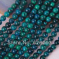 """6MM Brazilian Azurite Round Loose Beads 16"""" Jewelry Making Free Shipping B248"""