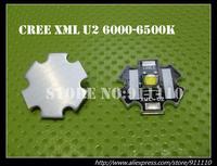 10pcs/lot US Originl Cree XML U2 Cool White 1W 3W 5W 10W High Power Led Emitter on 20mm Star Board