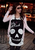 New Women's Fashion Cute Skull Sexy Fun Top Shirt 3 Colors