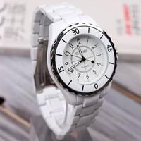 White Noble Women Lady Wristwatch Stainless Steel Quartz Movement Watch SINOBI