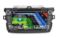 Car pc  DVD player with gps for  Corolla Stereo  Wifi 3G Bluetooth  Steering wheel control Radio Ipod playing