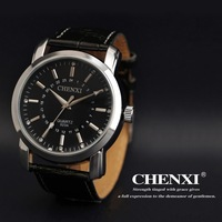2013 High quality Men's fashion watch ,leather bracelet men generous Quartz watch, men gift