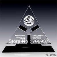 Noble 2013 Best selling Free shipping,Grade A Crystal trophy Crystal Gifts,Equilibrium award plaque,design,logo and size OEM