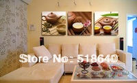 3 Panels  Chinese Tea Ceremony Life Canvas Modern Painting Living Room Decoration Combinative Wall Picture Art Pt561 No Frame