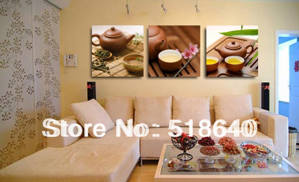 3 panelen chinese theeceremonie leven canvas moderne schilderkunst woonkamer decoratie - Home decoratie moderne leven ...