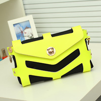 Free shipping women'S messenger bag fashion cutout  bags small day clutch l bag