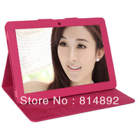 Free Shipping 7.85 inch leather Stand Case for cube U35GT, Cube u35gt leather case 3 colors available