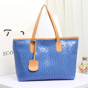 Free shipping Bag one shoulder handbag women's handbag ostrich grain PU women's bag