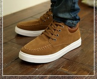 B Free Shipping Fashion Men Shoes Sneakers Causal Sport Shoes Leather 3 Colors  Size 39-44