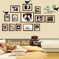 Wholsale The Photo Wall Large removable wall sticker,Photo wall,the television background wall ,Safe non-toxic,Free shipping