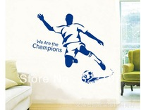 Wholsale The Football Boy Large removable wall sticker,Photo wall,the television background wall ,Safe non-toxic,Free shipping