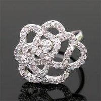 Free shipping 2012 austria crystal flower ring