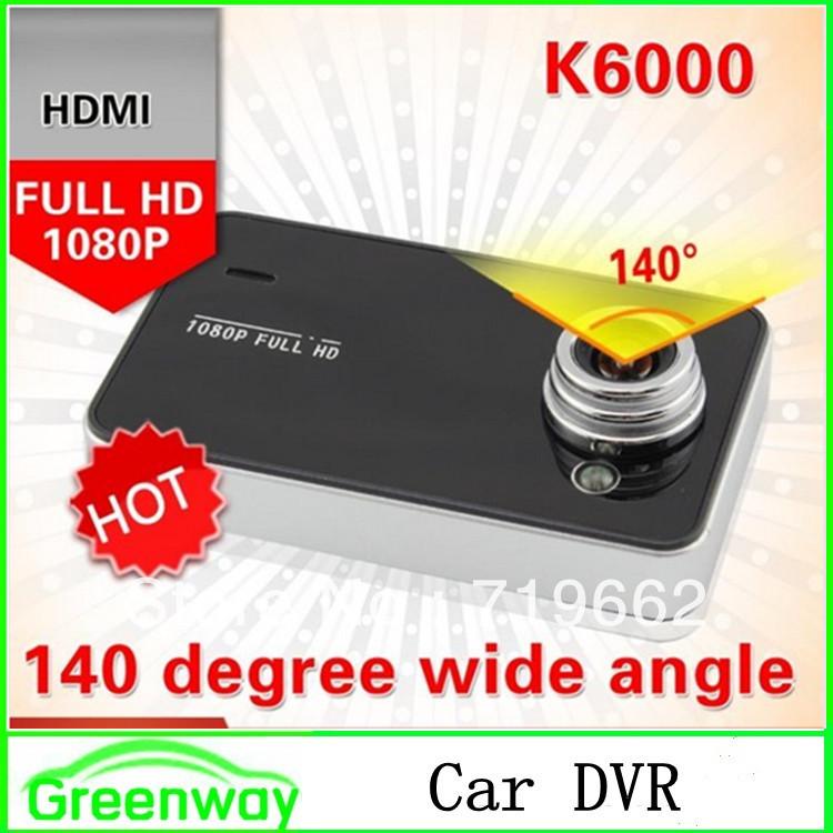 "Original K6000 Full HD car dvr Vedio Recorder Car Camera 1080P 2.7"" LCD Recorder Video Dashboard Vehicle Camera Novatek chipset(China (Mainland))"