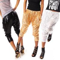 Ds costume paillette trousers hiphop jeans hiphop jazz dance pants hypertensiveperson pants hip-hop pants beggar pants