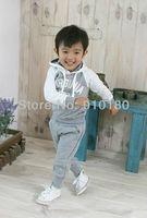 Free Shipping!!5sets/lot baby boys girls korean sports suits Autumn tracksuits Hooded sweatshirt +pants 2pcs set