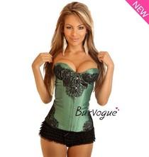 green corset bustier vintage