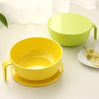Melamine porcelain handle lid candy color large capacity instant noodles bowl bowlful soup bowl 35897